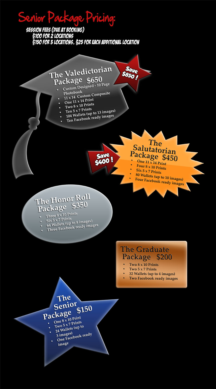 Senior Photography Package Prices